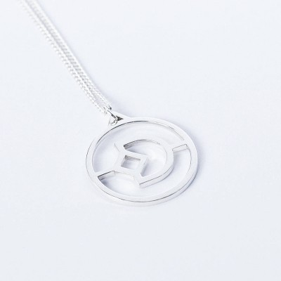 Personalised Crux Initial Necklace - AMAZINGNECKLACE.COM