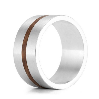 Wood Personalised Ring Drift - AMAZINGNECKLACE.COM