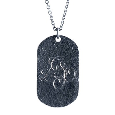 Personalised Oxydised Military Tag Necklace - AMAZINGNECKLACE.COM