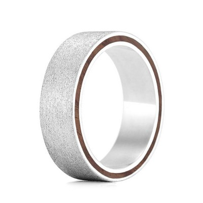 Wood Personalised Ring Ferrule - AMAZINGNECKLACE.COM
