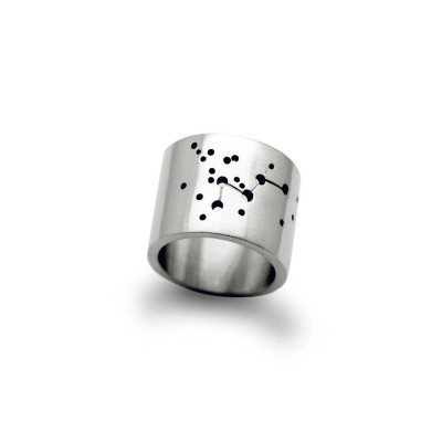 Personalised Wide Constellation Ring - AMAZINGNECKLACE.COM