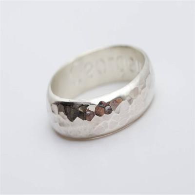 Mens Personalised Gunwalloe Ring - AMAZINGNECKLACE.COM
