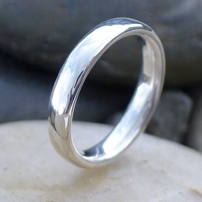 Handmade Comfort Fit Silver Personalised Ring - AMAZINGNECKLACE.COM