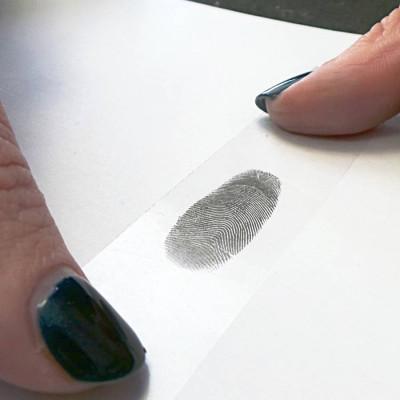 Inked Fingerprint Dog Tag Personalised Necklace - AMAZINGNECKLACE.COM