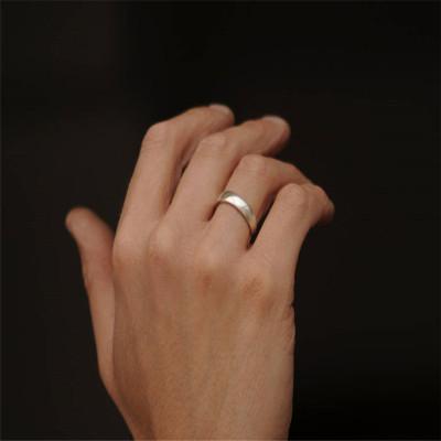 Mans Silver Wedding Band - AMAZINGNECKLACE.COM