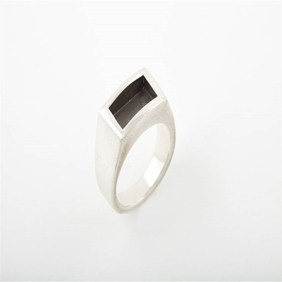 Men Gentlemen Personalised Ring Black - AMAZINGNECKLACE.COM