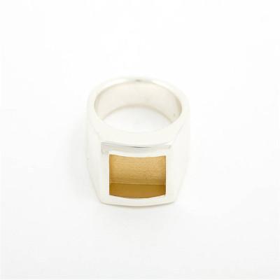 Men Gentlemen Personalised Ring Gold - AMAZINGNECKLACE.COM