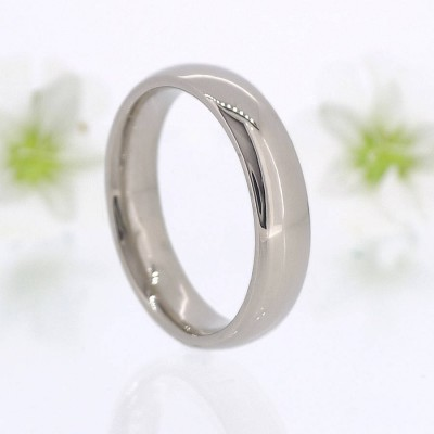 Mens Comfort Fit 18ct Gold Wedding Personalised Ring - AMAZINGNECKLACE.COM