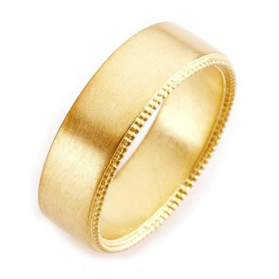 Mens Decorated Wedding Personalised Ring In 18ct Gold - AMAZINGNECKLACE.COM