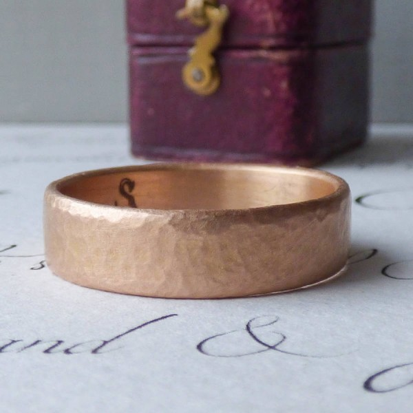 Mars Mens Fairtrade 18ct Rose Gold Wedding Personalised Ring - AMAZINGNECKLACE.COM