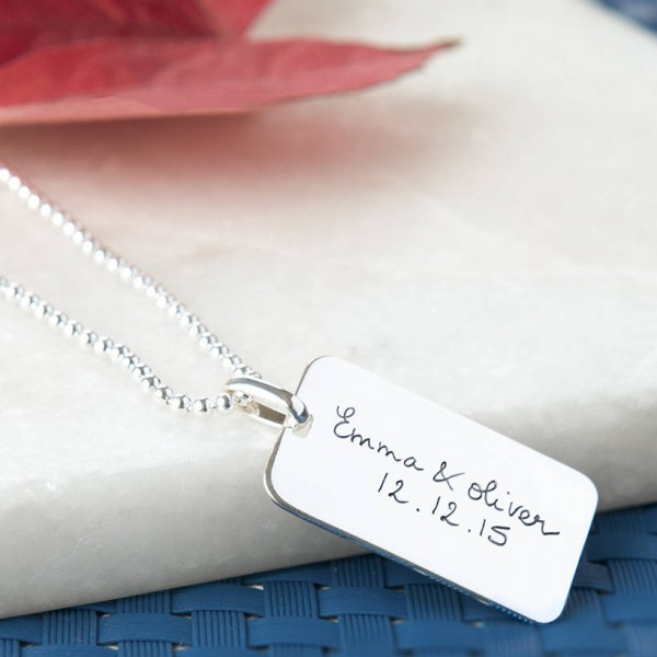 Mens Personalised Dog Tag Chain Necklace - AMAZINGNECKLACE.COM