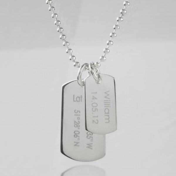 Mens Birth Day Celebration Dog Tags Personalised Necklace - AMAZINGNECKLACE.COM