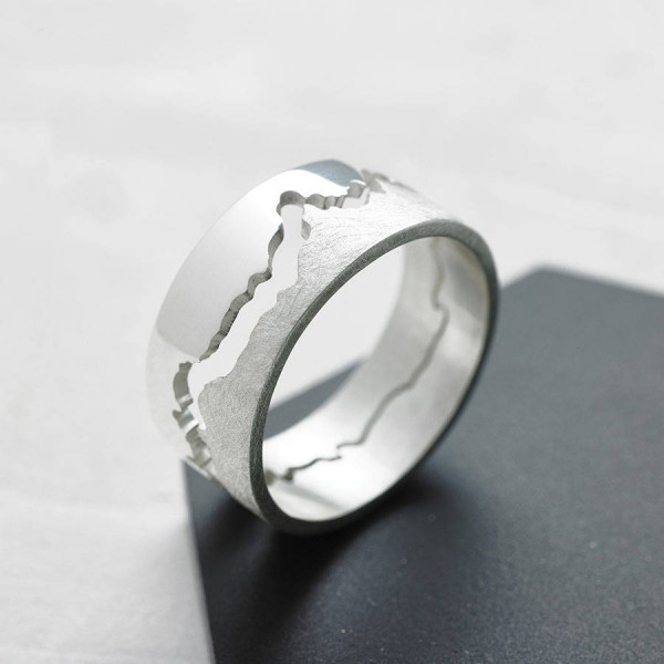 Mens Coastline Map Personalised Ring - AMAZINGNECKLACE.COM