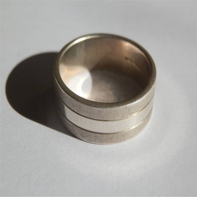 Mens Silver Band Personalised Ring - AMAZINGNECKLACE.COM