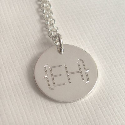 Modern Monogram Parentheses Personalised Necklace - AMAZINGNECKLACE.COM