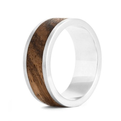Wood Personalised Ring Native Chunk - AMAZINGNECKLACE.COM