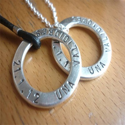 Two Personalised Wedding Necklaces - AMAZINGNECKLACE.COM