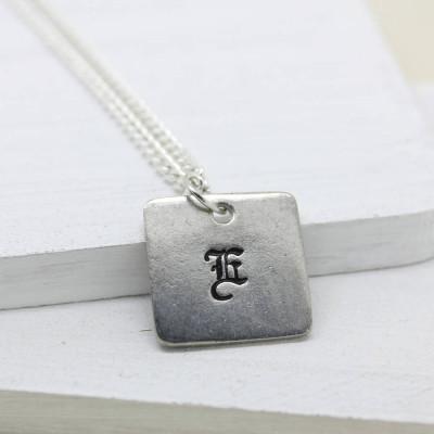 Personalised Old English Style Font Necklace - AMAZINGNECKLACE.COM