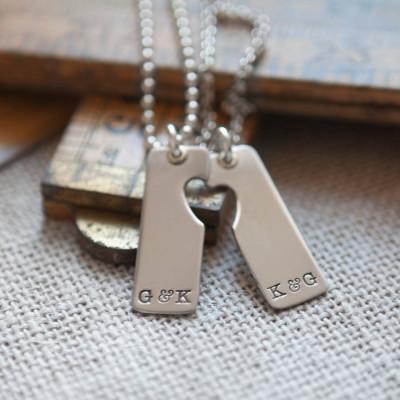 A Pair Personalised Necklace - AMAZINGNECKLACE.COM