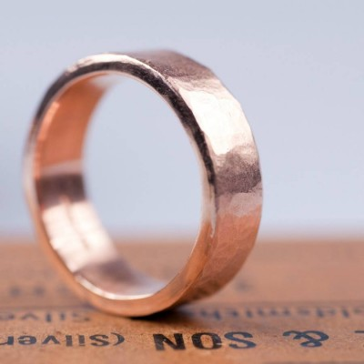 Organic Wide 18ct Gold Personalised Ring - AMAZINGNECKLACE.COM