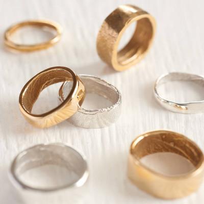18ct Rose Gold Bespoke Fingerprint Wedding Personalised Ring - AMAZINGNECKLACE.COM