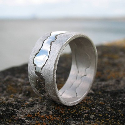 Personalised Double Coastline Ring - AMAZINGNECKLACE.COM