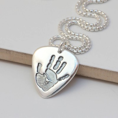 Mens Personalised Hand Or Footprint Necklace - AMAZINGNECKLACE.COM