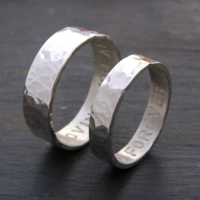Personalised His And Hers Rings - AMAZINGNECKLACE.COM