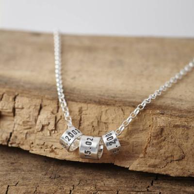Personalised Mens Silver Storyteller Necklace - AMAZINGNECKLACE.COM