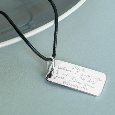 Mens Personalised Dog Tag Necklace - AMAZINGNECKLACE.COM