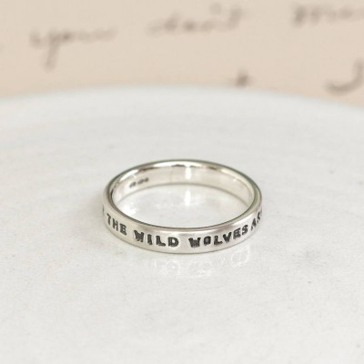 Personalised Silver Message Ring - AMAZINGNECKLACE.COM