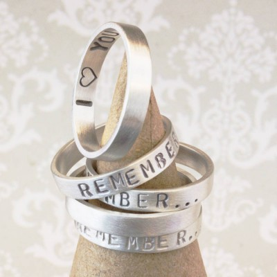 Personalised Remember… Your Story Ring - AMAZINGNECKLACE.COM