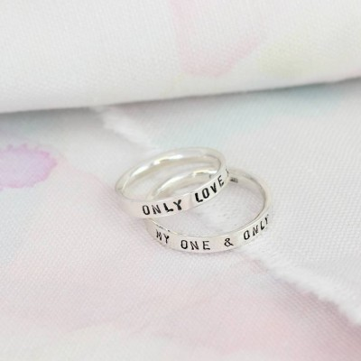 Personalised Script Ring For Couples - AMAZINGNECKLACE.COM