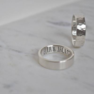 Silver Secret Message Personalised Ring - AMAZINGNECKLACE.COM
