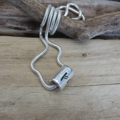 Personalised Silver Rune Thong Necklace - AMAZINGNECKLACE.COM
