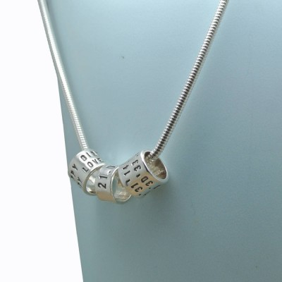 Personalised Womens Silver Storyteller Necklace - AMAZINGNECKLACE.COM