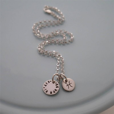 Personalised Silver Zodiac Necklace - AMAZINGNECKLACE.COM