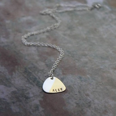 Personalised Plectrum Necklace - AMAZINGNECKLACE.COM