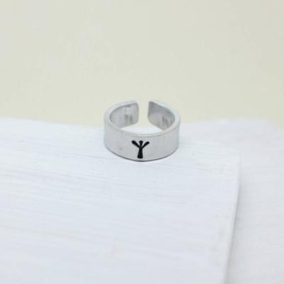 Personalised Viking Rune Initial Talisman Ring - AMAZINGNECKLACE.COM