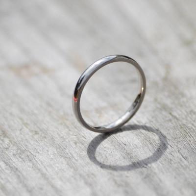 18ct Gold Wedding Band Wedding Personalised Ring - AMAZINGNECKLACE.COM