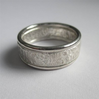 Rocky Outcrop Personalised Ring With Polished Edges - AMAZINGNECKLACE.COM