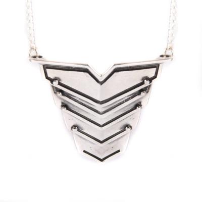 Romeo Personalised Necklace Oxydised Silver - AMAZINGNECKLACE.COM