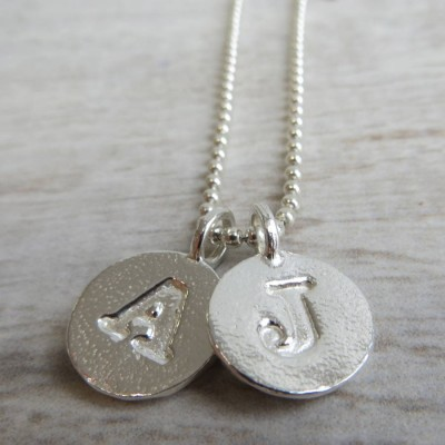 Silver Letter Charm And Ball Chain Personalised Necklace - AMAZINGNECKLACE.COM