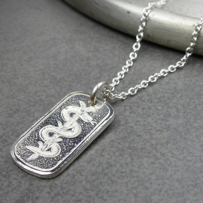 Silver Medical ID Tag - AMAZINGNECKLACE.COM
