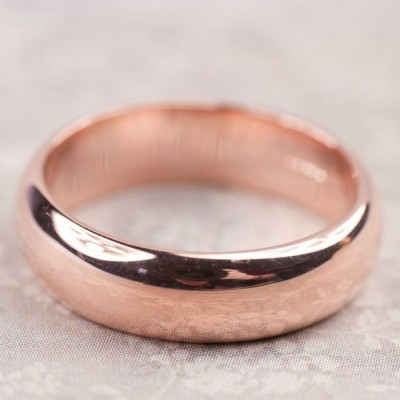 Simple Handmade Mens Wedding Personalised Ring In 18ct Gold - AMAZINGNECKLACE.COM