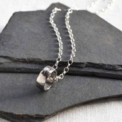 Small Meteorite Rings Personalised Necklace - AMAZINGNECKLACE.COM