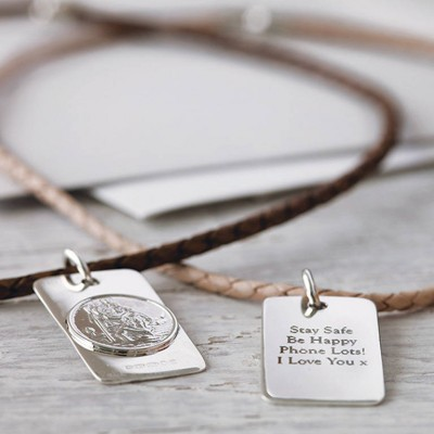 St Christopher Personalised Necklace - AMAZINGNECKLACE.COM