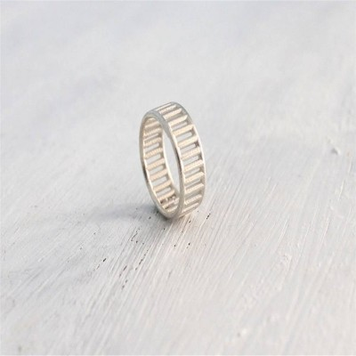 Sterling Silver Inclusions Personalised Ring - AMAZINGNECKLACE.COM