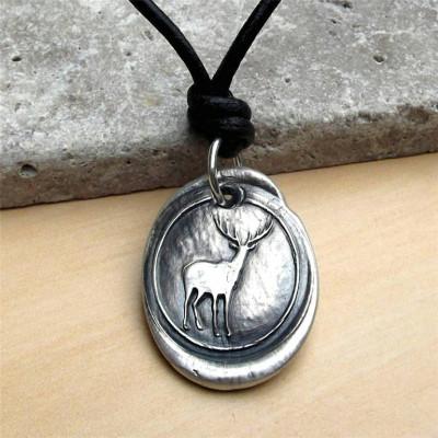 Wax Seal Deer Personalised Necklace - AMAZINGNECKLACE.COM