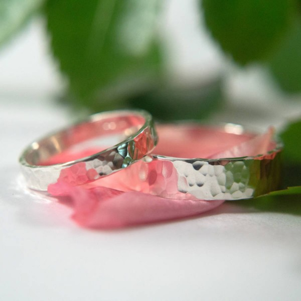Wedding Bands In Sterling Silver - AMAZINGNECKLACE.COM